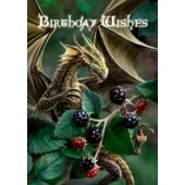 Verjaardagkaart Blackberry Dragon van Anne Stokes