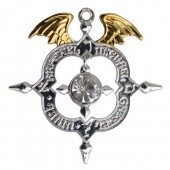 Mystic Kabbalah hanger Winged Archangel Shield